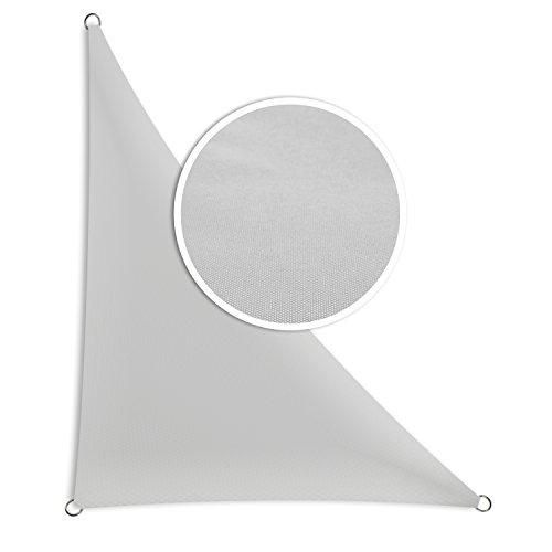 Schramm® Sonnensegel Dreieck rechtwinklig in Verschiedenen Größen und Farben Sonnenschutz Sichtschutz Windschutz, Farbe:grau, Größe:2.50 m x 2.50 m x 3.50 m