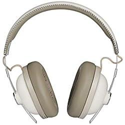 Panasonic RP-HTX90BE-W Casque Bluetooth Blanc (Active Noise Cancelling, Over-Ear, autonomie jusqu'à 24 Heures, Charge Rapide, Commande vocale)
