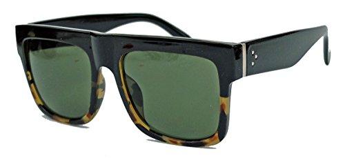 amashades Vintage Classics Herren Sonnenbrille im Designer Stil oversized Flat Top Modell SN26 (Brown Camo)