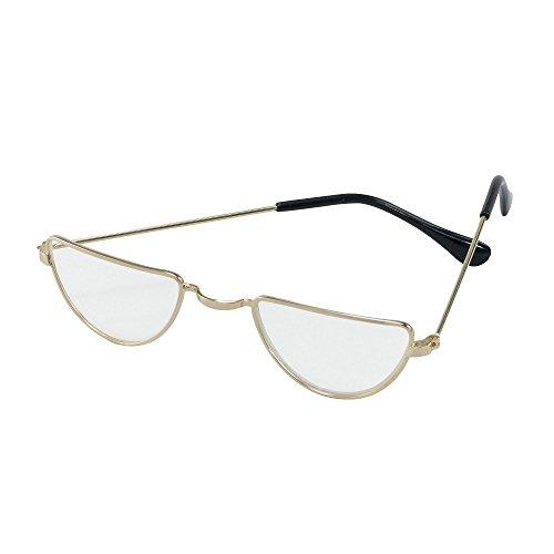 Bristol Novelty ba733Halbmondbrille, Gold, Einheitsgröße, Unisex– Erwachsene