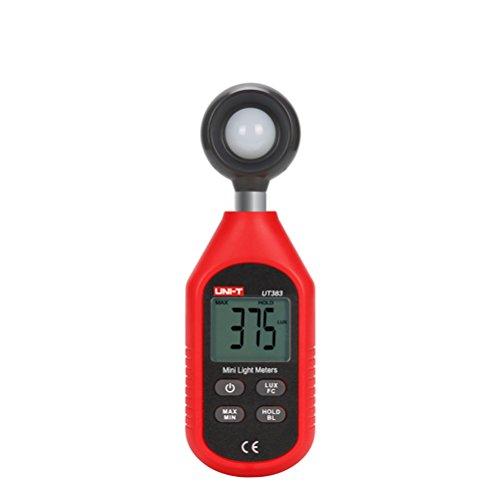 UKCOCO Digital Light Beleuchtungsstärke Meter Digital Beleuchtungsstärke Lux Meter Photometer Lightmeter Tester LCD Display (rot) -