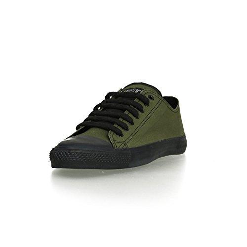 Ethletic Black Cap vegan LoCut - Farbe camping green / black aus Bio-Baumwolle Größe 42 - 2