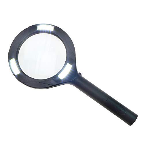 Leselupe mit Licht sehr helles COB Licht Handlupe Vergrößerungsglas mit LED Beleuchtung Ø 11 cm