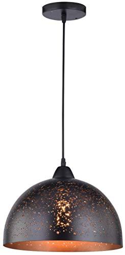WOFI Pendelleuchte, Metall, E27, 60 W, Ø: 30 cm - In Antik-braun-tisch-lampe