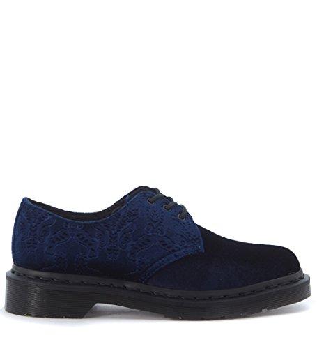 Dr. Martens - Dr. Martens 1461 Brocade Chaussures de Velours Bleu