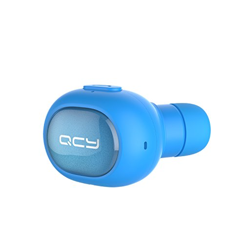 QCY Mini wireless Kopfhörer in Ear Bluetooth Headset Ohrhörer mit Mikrofon, Bluetooth 4.1 Speziell für Musik Hören und Telefon sprechenAnzug für iPhone7 7Plus 6 6S 6 Plus 6S Plus 5S 5 5C , Samsung Galaxy S6 S6 Edge (blau)