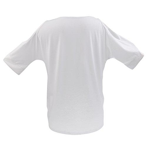 Sharplace Haut À Manches Longues Débardeur Décontracté Chemisier Femme Vêtement D'Été Cadeau Blanc