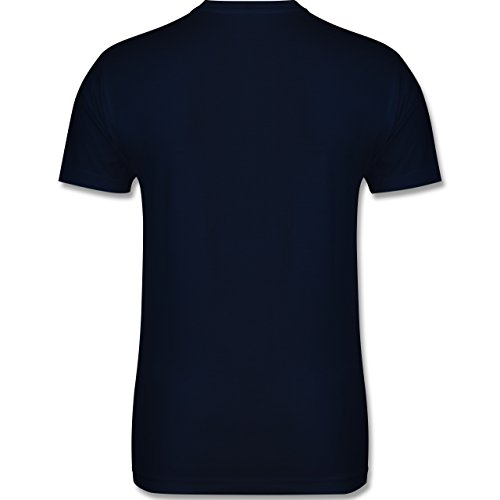 Küche - Kiss the cook - Herren Premium T-Shirt Navy Blau