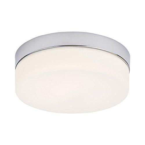 Milano Tama LED rund, chrom Badezimmer Spritzwand Licht–IP44Wasserdicht mit Deckenleuchte frosted Glas opal Diffusor, Ø236mm