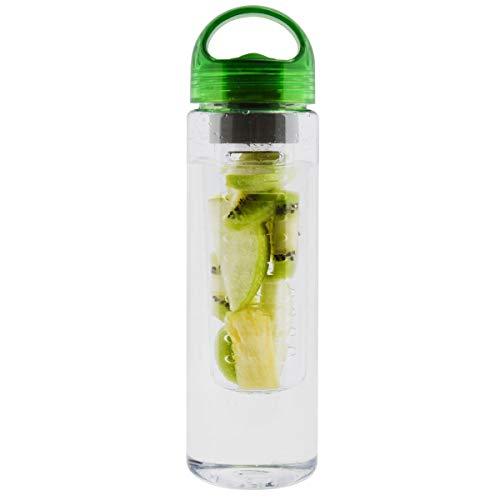 700ml duftender Tee-Blumen-Zitrone-Filter-Cup-Frucht Infusing Infuser Wasserflasche Portable Sport Fahrradflasche (Color : Green)