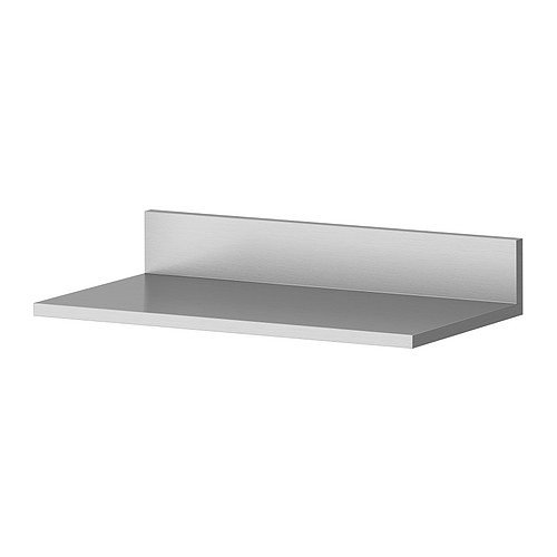 Ikea Limhamn - Estante de pared de acero inoxidable - 40 x 20 cm