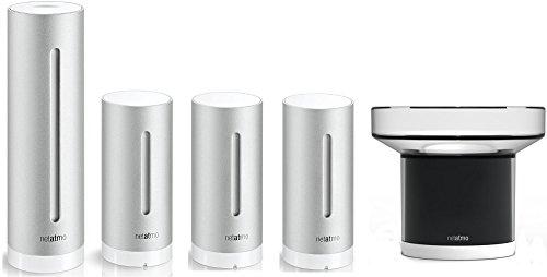 Netatmo Urban Sparset Profi Plus Wetterstation mit Luftqualitätssensoren für Apple iPhone und Android