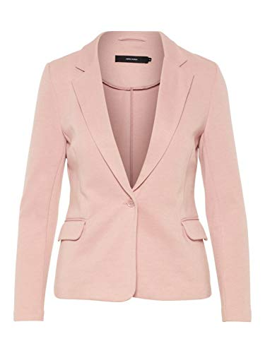 VERO MODA Damen Jersey Blazer Anzugjacke Businessjacke Sakko Jackett (40, Misty Rose)