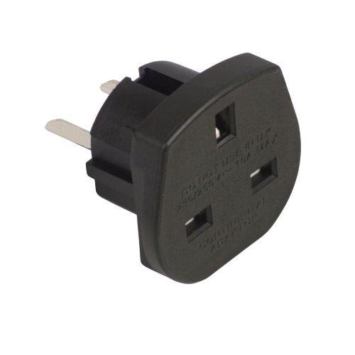 Ex-Pro® Reiseadapter für UK-Stecker in 2-pol. Steckdose (USA, Kanada, Australien), schwarz