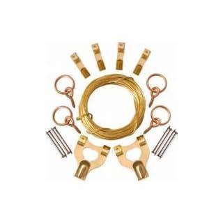 DIY & Tools - PICTURE HANGING KIT - WALL HANGING HANGERS KIT SET PICTURE PHOTO FRAME KITCHEN OFFICE HOOKS - FREE UK SHIPPING - Photo Frame Hook Set Picture Hanging Kit Nails, Brass Hooks