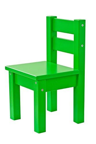Hoppekids Kinderstuhl MADS, teilmassiv, sehr stabil, viele Farben, Holz, grün, 28 x 28 x 50 cm