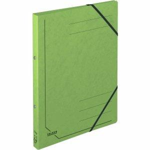5 x Falken Ringhefter A4 Colorspan-Karton 355g/qm 2-Ring-Mechanik grün