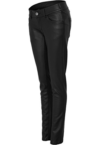 URBAN CLASSICS - Ladies Leather (Black) da imitazione nero XS