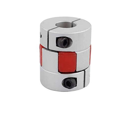 sourcingmap® 5mm bis 10mm Schaft Pflaumenförmig elastisch Kupplung 25mm Durchmesser 30mm lang DE de