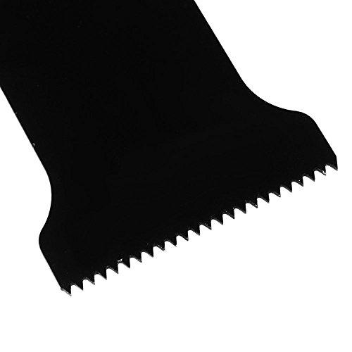 cnbtr schwarz 32x 50mm Carbon Stahl Sägeblätter Pendelndes Multitool Präzision Quick Release Sägeblätter Set von 10