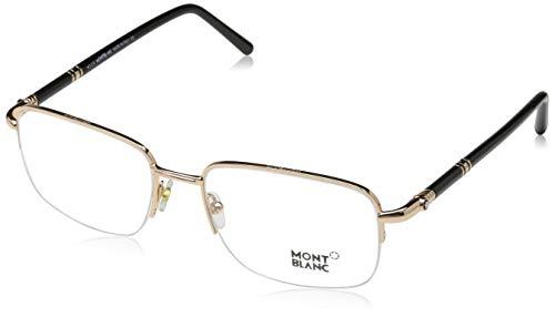 Montblanc Damen Mont Blanc MB0528 56028 Sonnenbrille, Schwarz, 45