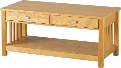 Ashmore Ash Veneer 2 Drawer Coffee Table