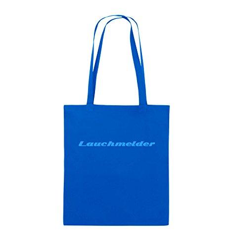 Comedy Bags - Lauchmelder - Jutebeutel - lange Henkel - 38x42cm - Farbe: Schwarz / Pink Royalblau / Blau