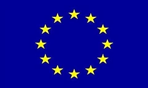Europäischen Union blau Sterne Flagge 8ft X 5ft Große–100% Polyester–Metall
