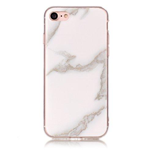 """Coque pour Apple iPhone 7 , IJIA Texture Marbre Coloré TPU Doux Silicone Bumper Case Cover Shell Poids Léger Housse Anti Rayure Anti Choc Etui pour Apple iPhone 7 (4.7"""") (YH78) YH65"""