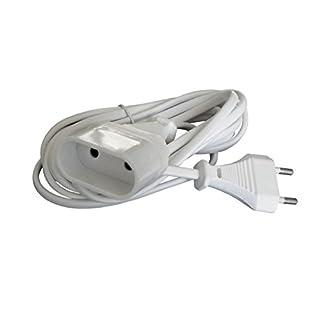 Zenitech - Prolongateur Ménager 6A HO3VVH2F 2 x 0.75 Blanc 2m