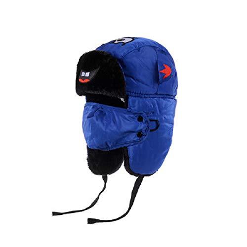 -Mütze Bomberhüte Winter Plus Samt Dicke Winddichte Kopfhörer Hut Lei Feng Hut Pilot Hut,Children's-Blue ()