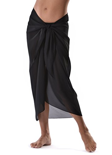 Large Black Sarong All Black Cover up Wrap Beachwear Maxi Summer Holidays Cover up Scarf Test