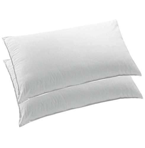 Arrediamoinsieme-nelweb coppia guanciali cuscini letto 42x72 cm federa puro cotone morbidissimi 100% made in italy mod.guanciali rio coppia