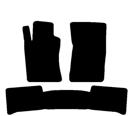 bis 2009 Teppich für Auto mit hinten gesamten, Komplettset von passgenaue FuàŸmatten aus Teppich schwarz ()