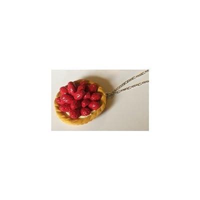 """Lady-Charms - Fait-main - Collier / """"Tarte aux fraises"""""""