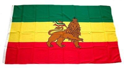 Fahne / Flagge Äthiopien mit Löwe 90 x 150 cm Flaggen