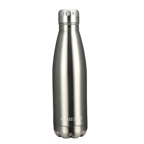 31qIFySix%2BL - AOMERLY Insulated Stainless Steel Water Bottle - Ice Cold 24 Hours! Vacuum + Copper Technology - 17 Ounce Silver sports best price Review uk