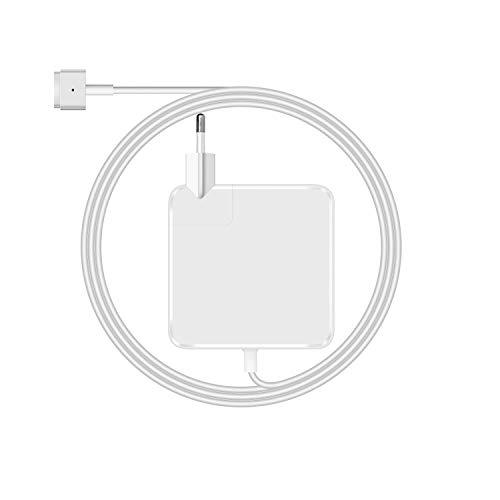 PaxLux Kompatible mit MacBook Pro Ladegerät,Ersatz 60W MagSafe 2 T Stecker Power Adapter (Netzteil) für MacBook Pro 13 Zoll Retina (ab Ende 2012)-mit EU Wandstecker,Netzkabel