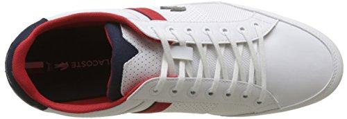 Lacoste Herren Chaymon 218 1 Cam Sneaker Weiß (Wht/nvy 042)