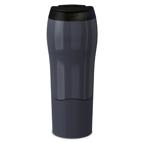 Dexam Mighty Mug Go Thermobecher, fällt Nicht um, 0,47l, Dunkelgrau