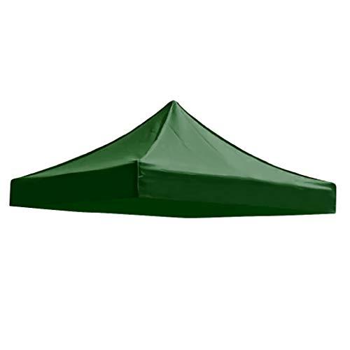 P Prettyia Zeltplane Camping Zelt Tragbar Regenschutz Wasserdicht Schutzplane - Dunkelgrün 3x3m, 3x3m