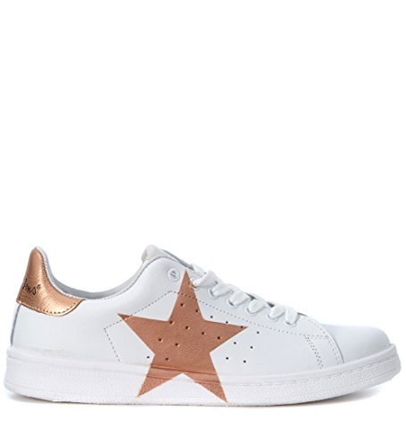 Sneaker NiRa Rubens Daiquiri in pelle bianca e stella rame Bianco