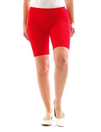 yeset - Short - Relaxed - Uni - Femme Rouge - Rouge