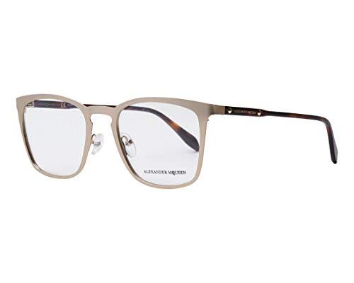 Alexander McQueen Brille (AM-0167-O 004) Metall - Acetate Kunststoff matt gold - havana - Alexander Mcqueen-brille