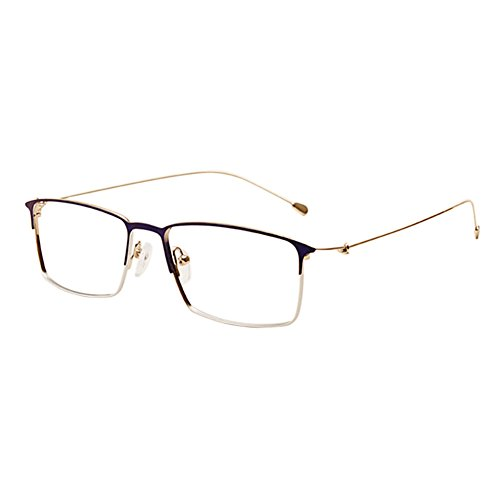 Haodasi Metall Legierung Quadratischer Rahmen Leichtgewicht Kurzsichtigkeit Linsen Brille Frau Männer Simple Kurzsichtig Eyewear Geschäft Stärke -0.5~-6.0 (Dies sind keine Lesebrillen)