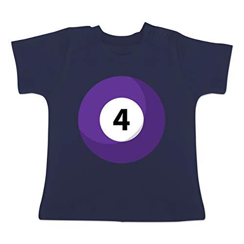 g Baby - Billardkugel 4 Kostüm - 1-3 Monate - Navy Blau - BZ02 - Baby T-Shirt Kurzarm ()