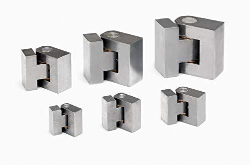 Gedotec - Bisagra para soldar (acero, tipo S, longitud de 60 mm, soporta hasta 1000 kg, 1 unidad)