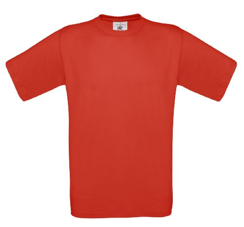 BCTU004 T-Shirt Exact 190 Herren Shirt Rundhals regular fit kurzarm Red