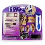 GRBRENH Wizzit Electric Body Hair Remover Trimmer Tweezers Epilator w/ 13-piece Manicure Set (2 x AAA)