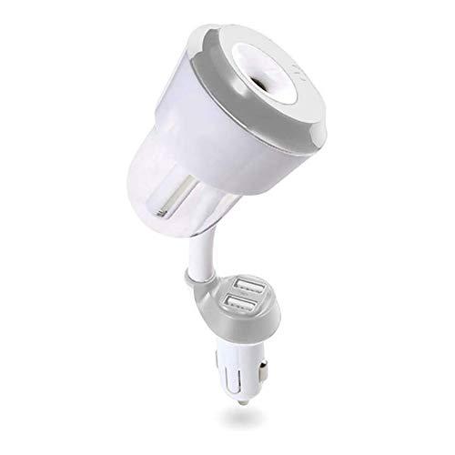 LTGJJ Raumbefeuchter,Luftbefeuchter Auto-ladegerät Luftbefeuchter Humidifier Air Purifier Auto-Aromatherapie-Diffusor Tragbares Ultraschallgerät Mit 2 USB-Ladegeräten, 360-Grad-Drehung , 12V